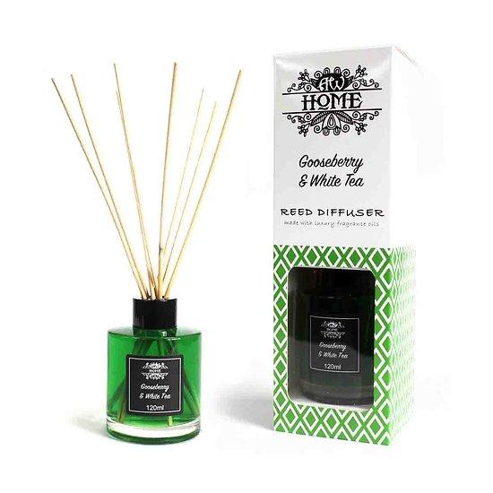 Diffuseur tige Rotin Groseille et Thé blanc 120ml Huiles Parfumées