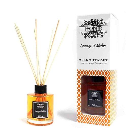 Diffuseur à Rotin Orange et Melon en 120ml aux Huiles Parfumées