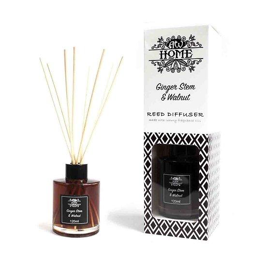 Diffuseur tige en Rotin Gingembre et Noix 120ml Huiles Parfumées