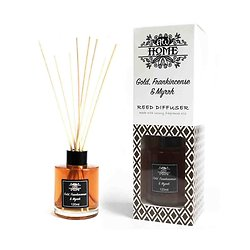 Diffuseur tige Rotin Or, Encens et Myrrhe 120ml Huiles Parfumées