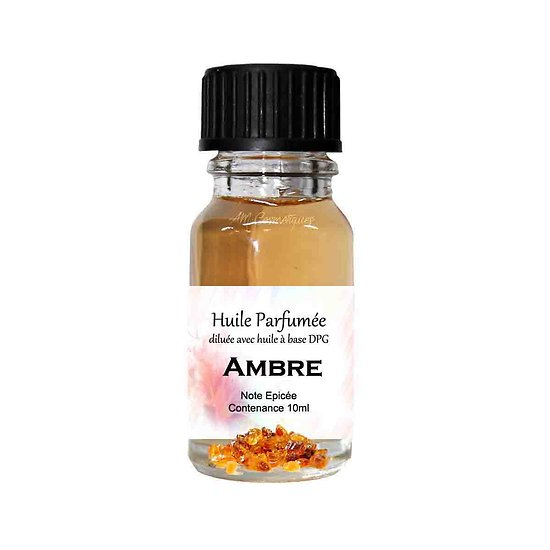 Huile parfumée Ambre note épicée 10ml diluée parfum d'ambiance