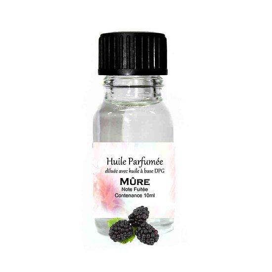 Huile parfumée Mûre note fruitée 10ml diluée parfum d'ambiance