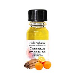 Huile parfumée Cannelle et Orange note épicée parfum d'ambiance