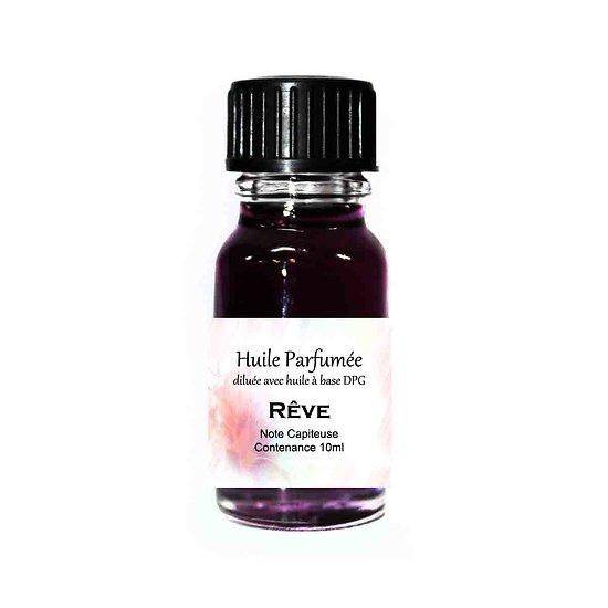 Huile parfumée Rêve note capiteuse 10ml diluée parfum ambiance