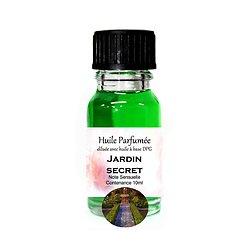 Huile parfumée Jardin caché note sensuelle 10ml parfum ambiance