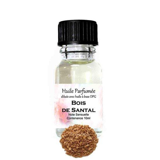 Huile parfumée Bois de Santal note sensuelle parfum ambiance