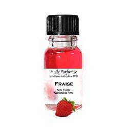 Huile parfumée Fraise note fruitée en 10ml pour parfum ambiance