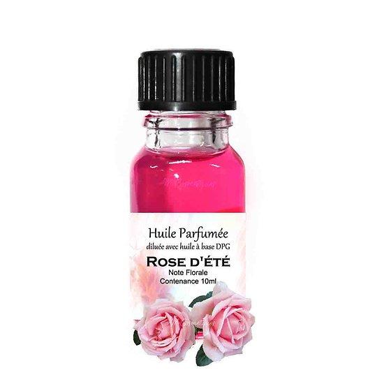 Huile parfumée Rose d'été note florale 10ml pour parfum ambiance