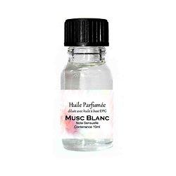 Huile parfumée Musc Blanc note sensuelle 10ml parfum ambiance