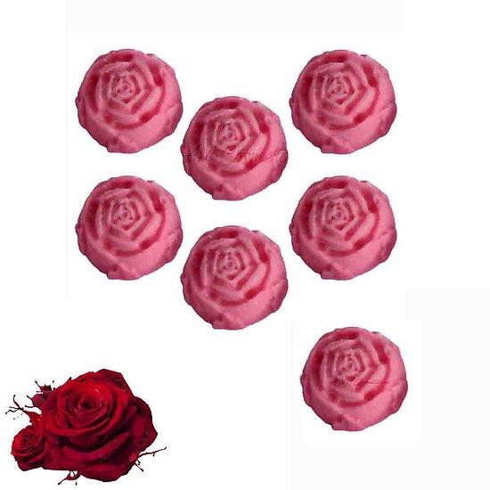 Fondant parfumé Rose mélange cire de soja et huile parfumée