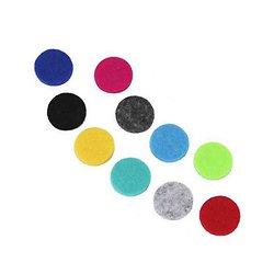 Tampons recharge 16mm pour collier diffuseur 25mm lot 10 coloris
