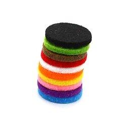Tampons recharge 25mm pour collier diffuseur 30mm lot 10 coloris