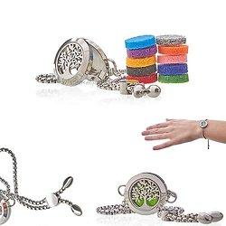 Bracelet chaîne Arbre de Vie bijoux aromathérapie en 20mm