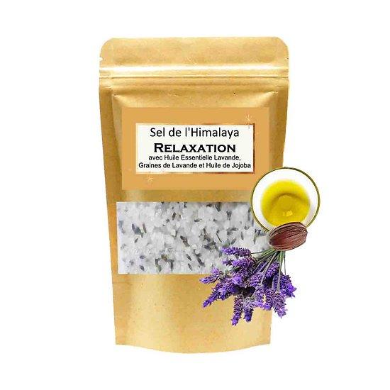 Sel de bain Himalaya Relaxation mélange lavande et huile jojoba
