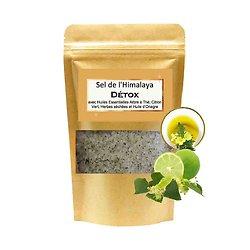 Sel de bain Himalaya Détox mélange arbre à thé et huile onagre