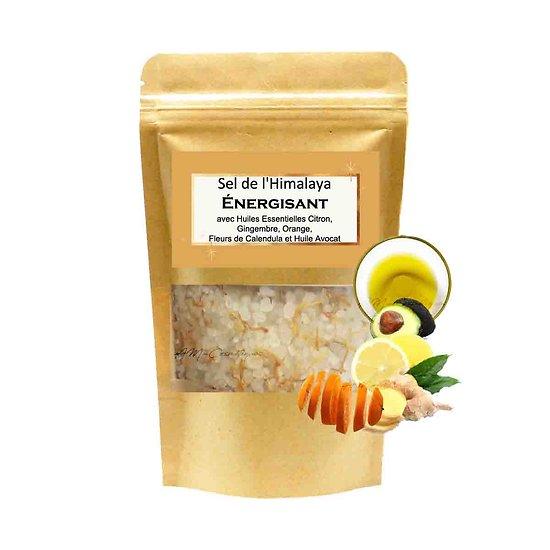 Sel de bain Himalaya Énergisant mélange citron et huile avocat