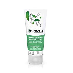 Masque exfoliant purifiant 3 en 1 extrait de thé vert 100ml Centifolia