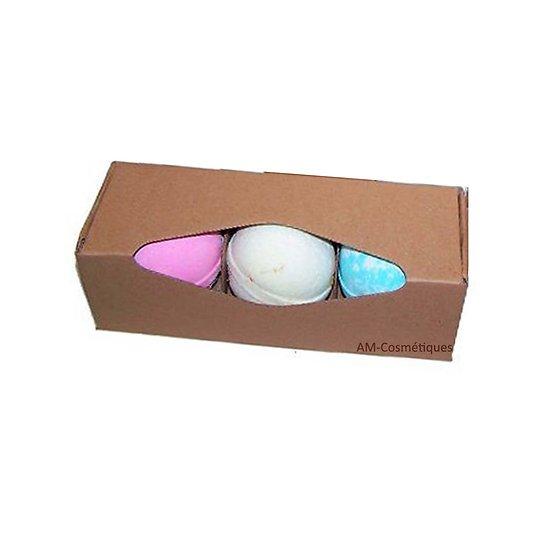 Boule de bain Jumbo Karité ou Paradis Tropical en coffret 3 boules