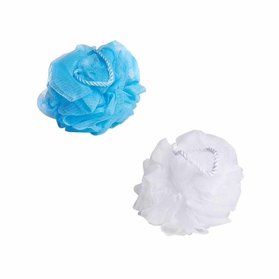 Fleur de douche Blanche ou Bleu ultra-douce nettoyer ou gommer