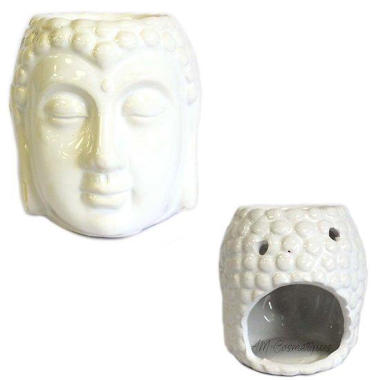 Brûleur à huile Bouddha Blanc céramique cire parfumée décoration