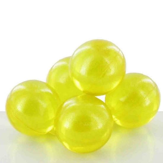 Perle de bain parfumée Verveine et Citron jaune translucide