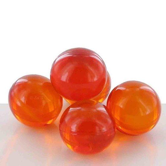 Perle de bain parfumée Pêche ronde en orange translucide