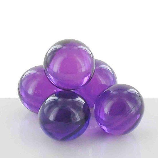 Perle de bain parfumée Lavande ronde en violet translucide