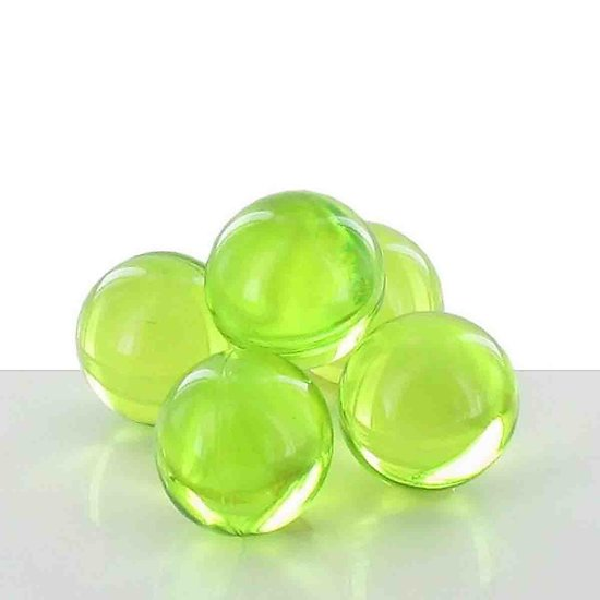 Perle de bain parfumée Pomme ronde en vert translucide