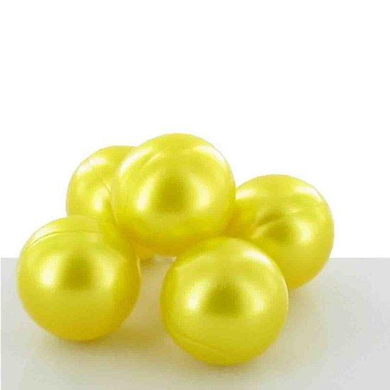 Perle de bain parfumée Chèvrefeuille ronde en jaune nacré