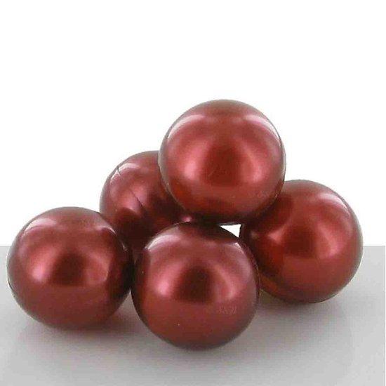 Perle de bain parfumée Vanille des îles ronde en bronze nacré