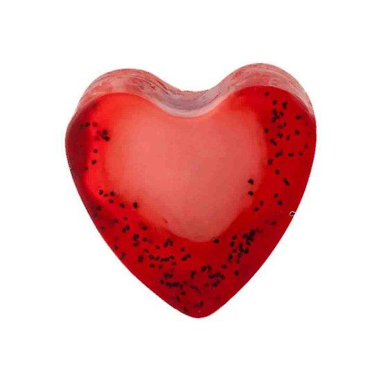 Savon glycérine coeur Fraise 85g peau lisse et hydratée