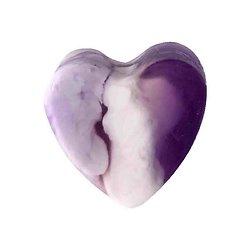 Savon glycérine coeur Myrtille et Mûre 85g peau lisse et hydratée