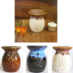 Brûleur à l'huile Yin-Yang céramique Eléments huile ou fondant cire