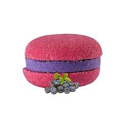 Macaron de bain Cassis effervescent couleur et senteur fraîches