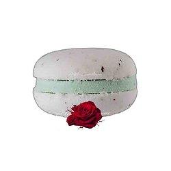 Macaron de bain Rose effervescent couleur et senteur fraîches