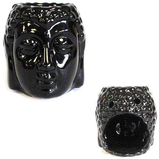 Brûleur à huile Bouddha Noir céramique cire parfumée décoration
