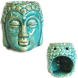 Brûleur à huile Bouddha Vert céramique cire parfumée décoration