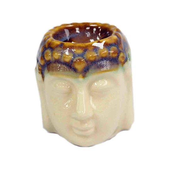 Brûleur à huile Bouddha Beige céramique cire parfumée décoration
