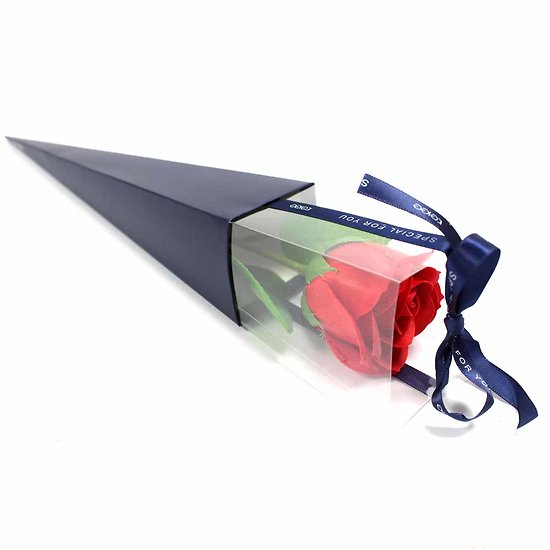 Rose de savon Rouge emballage individuel est le cadeau parfait