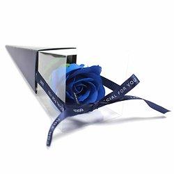 Rose de savon en Bleu emballage individuel est le cadeau parfait
