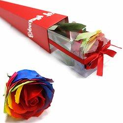 Rose de savon Multicouleur emballage individuel le cadeau parfait