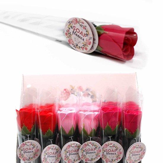 Fleur de savon petite Rose rouge, rose, fuchsia emballage unique