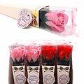 Fleur de savon Rose moyenne en rose ou rouge emballage unique