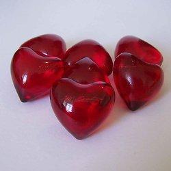 Perle de bain Coeur parfumée Fraise en rouge translucide bain