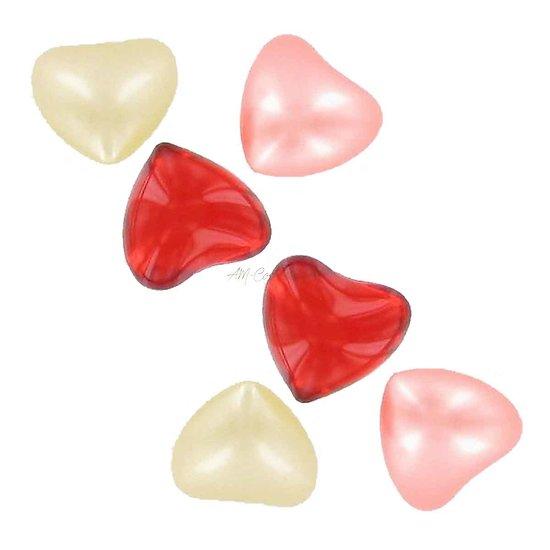 Perle de bain coeur parfumée Rose, Fraise ou Vanille lot au choix