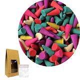 Cônes d'encens mélange parfum exotique et coloris incroyable