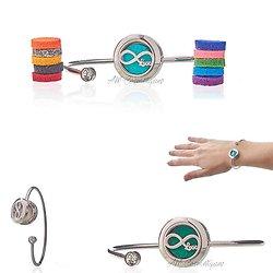 Bracelet strass Infini Love bijoux diffuseur aromathérapie 20mm
