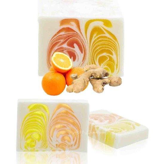 Savon artisanal Orange et Gingembre 100g un parfum étonnant