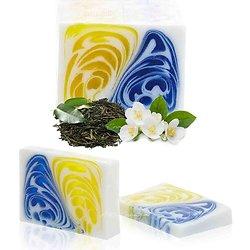 Savon artisanal Jasmin et Thé Vert 100g avec un parfum étonnant