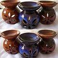 Brûleur à l'huile Yin-Yang céramique fleur huile ou fondant cire